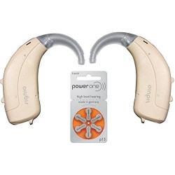 Siemens Signia Lotus Fun P BTE Digital Both Ear Left and Right Behind The Ear Hearing Aid (Beige)