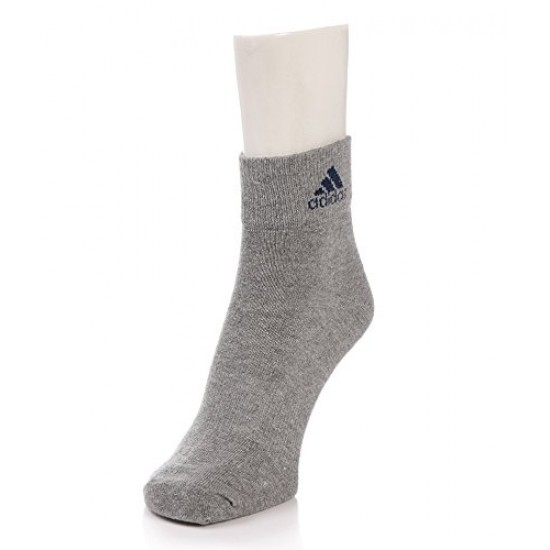 Adidas Men's Flat Knit Quarter Turn Around Welt Socks (Multicolour) - Pack of 3 Pairs