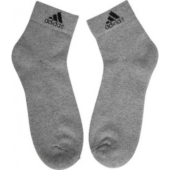 Adidas Men's Cotton Ankle Socks (Pack of 3)