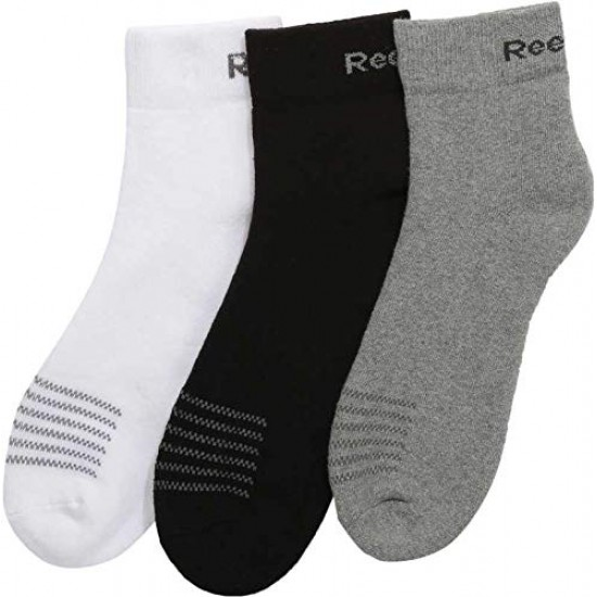 Reebok Men's Cotton Ankle Socks (Pack of 3)