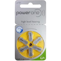 Powerone p10 Hearing Aid Zinc Air Battery ( 6 PCS Battery)