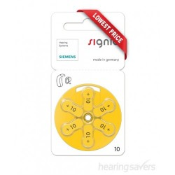 Signia Hearing Aid Battery 10 (60 PCS)