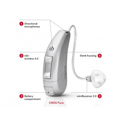 Siemens Orion 2 RIC 312 P (Receive In Canal) Very small 16 channel Digital Right Ear Hearing Aid (Beige)