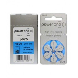 PowerOne Hearing Aid Battery P 675 (30 Pcs Battery)